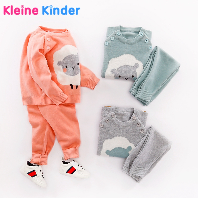 Baby Sweater Set 2018 Bobo Choses Knit Kids Cardigan Sets Pants +Pullover Sweaters for Girls & Boys Newborn Baby Clothing Set