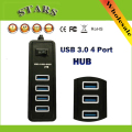High Speed 5Gbps 4 Ports USB 3.0 HUB With On/Off Switch USB HUB Splittler Adapter For PC Laptop Desktop,wholesale Free Shipping