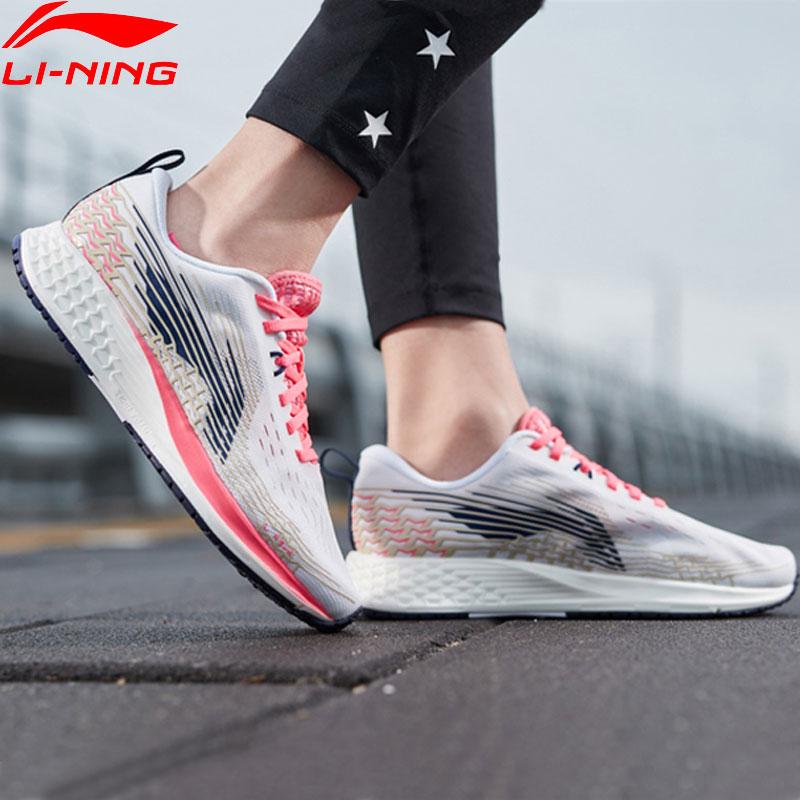 Li Ning Women BASIC RACING SHOES Light Weight Running Shoes Marathon TPU Support LiNing Sport Shoes