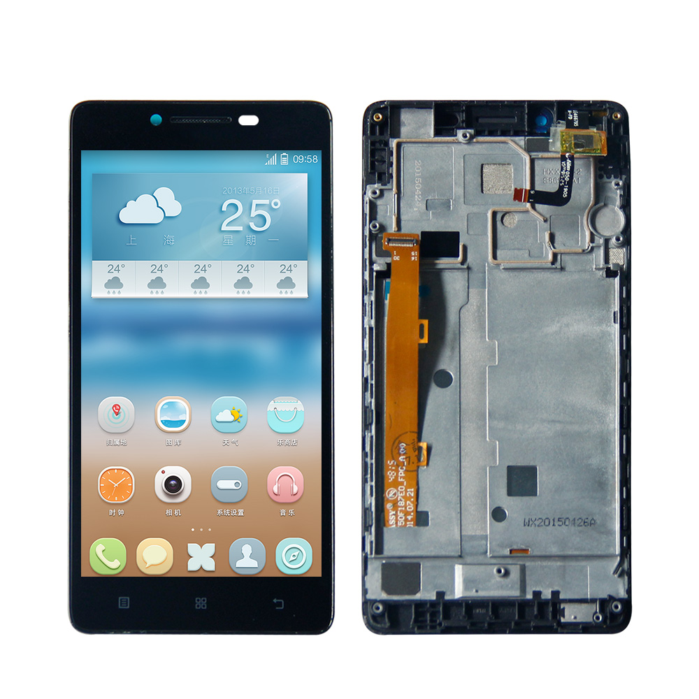 For Lenovo A6000 Lcd Display Touch Screen  Assembly With Frame Lenovo A6000 LCD K3 K30-T