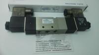 free shipping High Quality 1/4'' 4V230C 08 AC220V 3 Position 5 Way Air Solenoid Valve DC12V,DC24V or AC110V