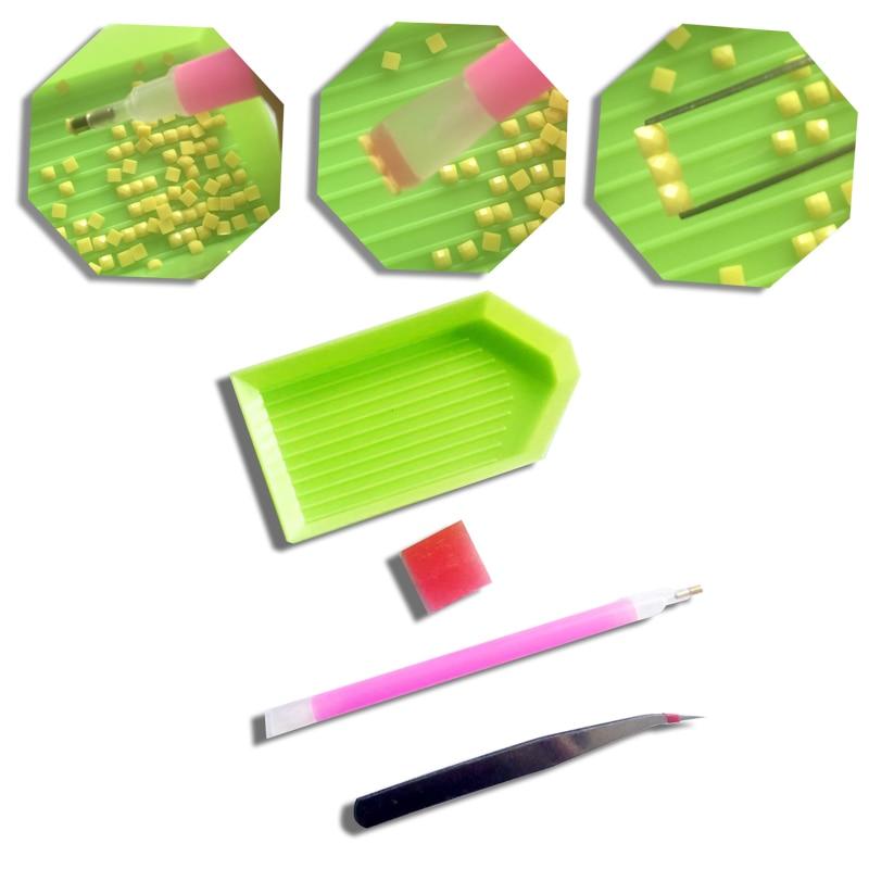 Дијамантско везење Цветна корпа - Уметност, занатство и шивање - Фотографија 2
