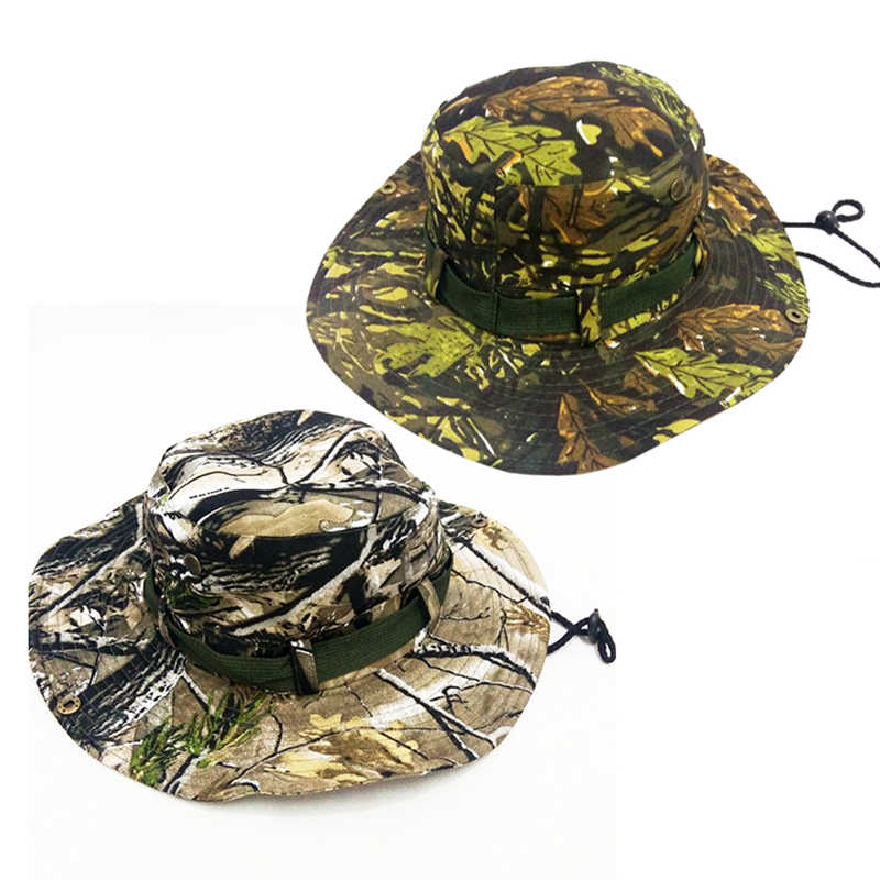 ff2d8fe7a2bb2 ... 2019 New Military Camouflage Boonie Hat Disguised Bucket Hat Men Tactical  Bucket Hat Hunting Hiking Fishing ...