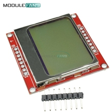LCD Module Display Monitor White backlight adapter PCB 84*48 84x84  5110 Screen For Arduino