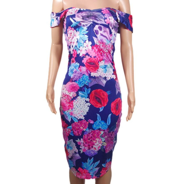 2018 Sexy Womens Sleeveless Bandage Pencil Dress Summer Boho Floral Printed Ladies Casual Beach Party Dresses Vestidos #YL