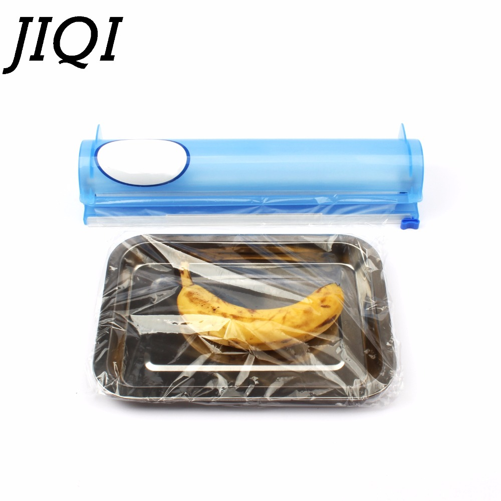 Cling Film Cutter Sealer Cutting Box For Plastic Wrap 100m Mini Household Portable Preservative Film Cutting Machine