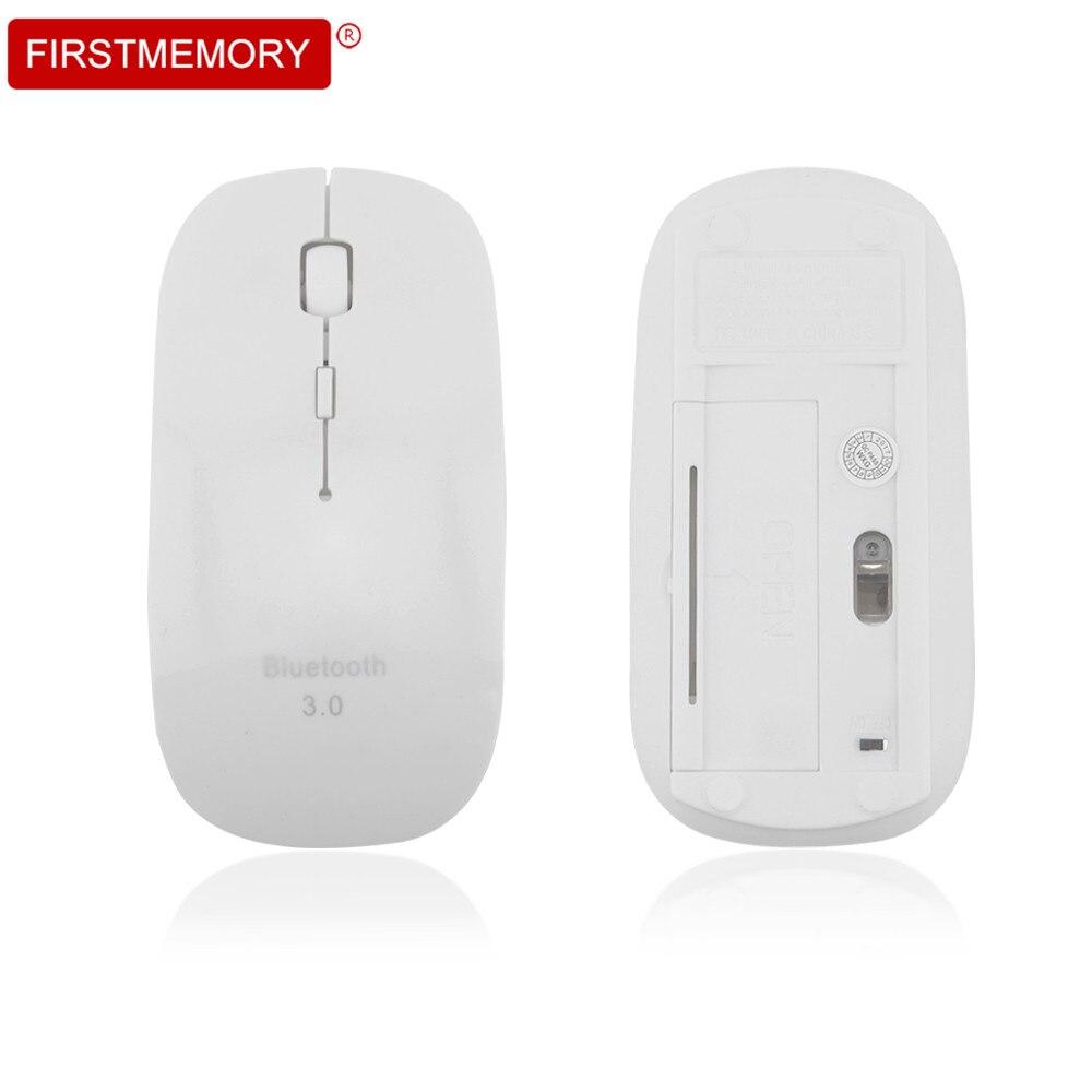 Super Slim Bluetooth 3,0 Беспроводной Мышь Регулируемый 1600 Точек на дюйм Оптическая мышь Портативный Эргономичный игровой Mause для портативных ПК рабо...