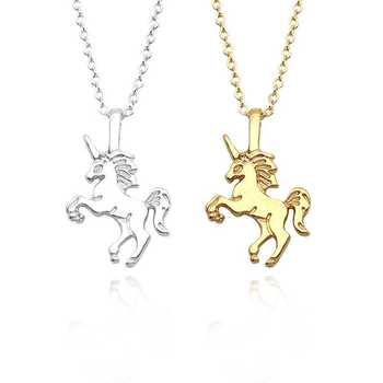 Silver and 18k Gold Unicorn Necklace