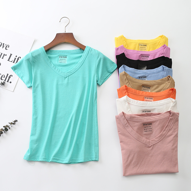 T Shirts Female Ice Linen Soft Women Tops Tees Shirts Slim fit shirt Summer Chic Short Sleeve undershirt Ladies Tshirt harajuku in T Shirts from Women 39 s Clothing