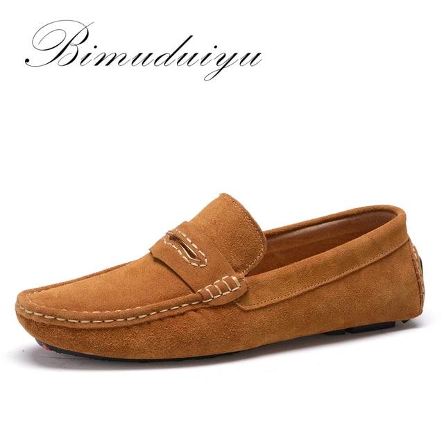 Moccasins Homme En Cuir Meilleure Qualité Trois Couleurs Souple Mode Chaussures Hommes Respirant Occasionnelles Confortable 1xRLL