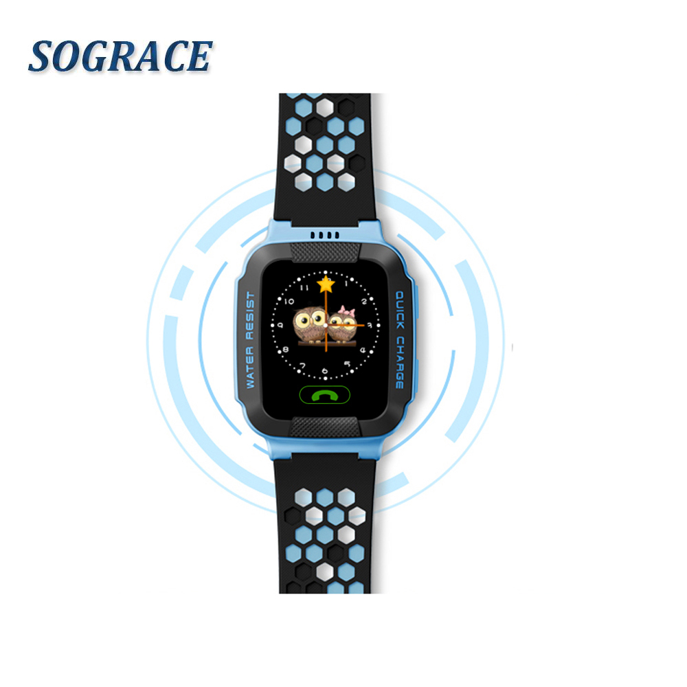Sograce Smart Watches For Children GPS Smartwatch SOS Watch Phone Weather Forecast 2G Ch ...