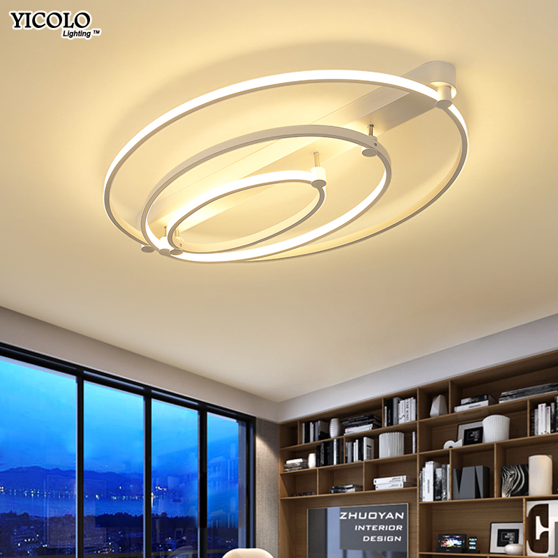 Ceiling Lights & Fans Coffee/white Modern Led Ceiling Lights Living Room Bedroom Luminaria Lamp Home Lighting Lamparas Remote Control Dimming De Techo Ceiling Lights