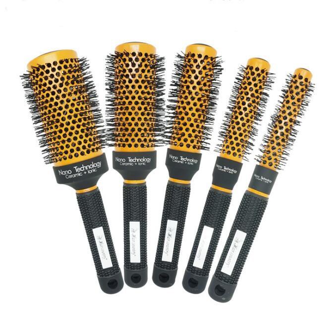 Furça e flokëve Qeramike Nano qeramike Jonike teknikë e flokëve furçë e rrumbullakët qeramike + GIC-HB516 transporti falas