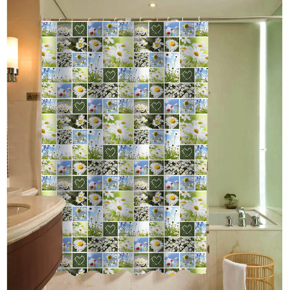 Size 180x180 High Quality Waterproof Shower Curtains Bathroom Curtain  Practical Bathroom Products 6 Colors Daisy Shower