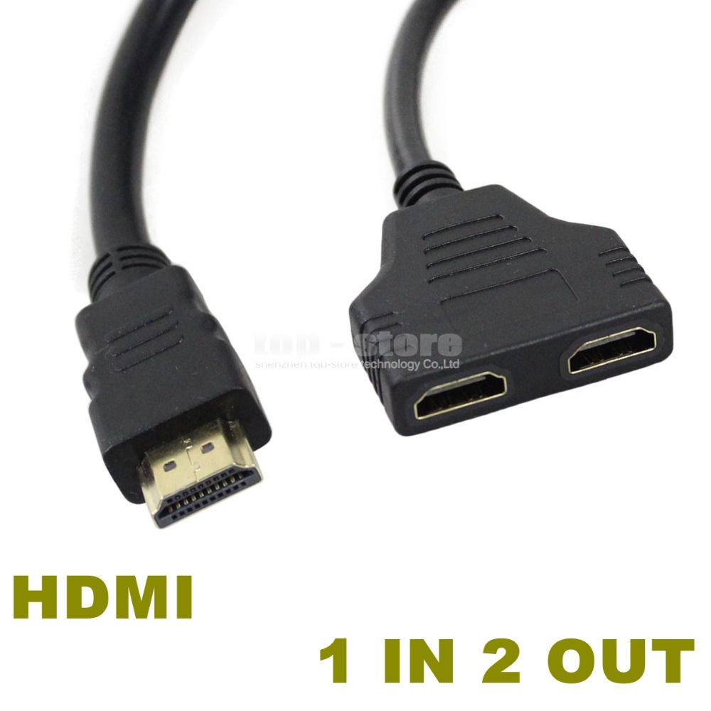 1080P 2 Port HDMI Splitter 1 In Out Male To Femal Video Cable Adapter Hdmi Switch Converter For Audio TV DVD