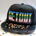 Nuevo diseño Bigbang G-dragon SALIR Mosaicos DIY Desmontable Incrustaciones de Ladrillo bloques de Construcción de juguete GD Snapback gorra de béisbol Sombrero de hiphop