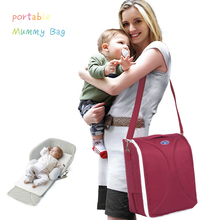 цена на 2 In 1 Newborn Portable Crib Nappy Mummy Bag Stroller Foldable Collapsible Diaper Travel Outdoor Essential Mummy Backpack