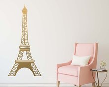Eiffel Tower Vinyl Wall Stickers Wall Decor For Living Room Bedroom Decoration Removable Wall Decals wallstickers цена