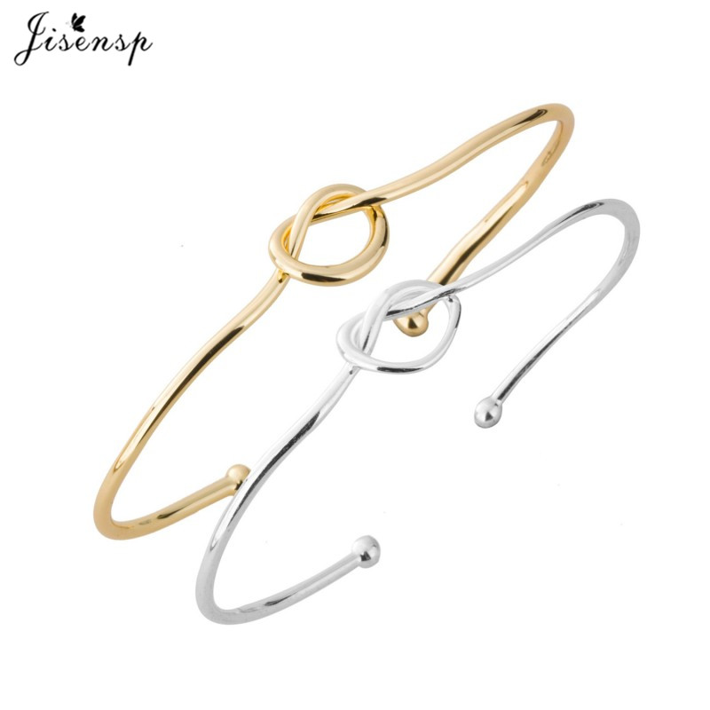 New Open Love Heart Knot Bracelet Bangle Knot Bangles  Stretch Bracelets for Women Dainty Knot Bangles