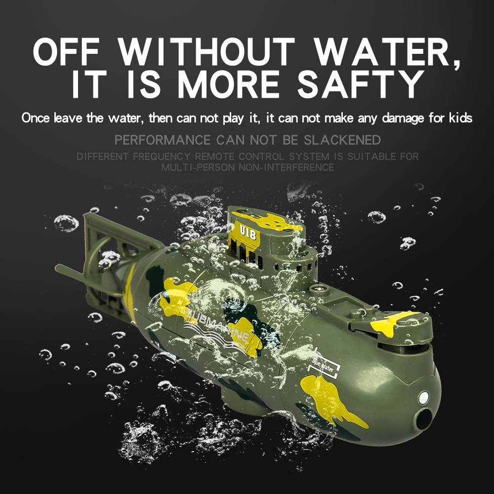 <font><b>Remote</b></font> <font><b>Control</b></font> Plastic 3311M <font><b>27Mhz</b></font>/<font><b>40Mhz</b></font> Electric Mini RC Submarine RTR Model Toy image