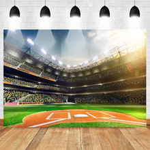Neoback Sports Backdrop for Photography Football Filed Match Background Birthday Backdrops Soccer Audience Table Photophone