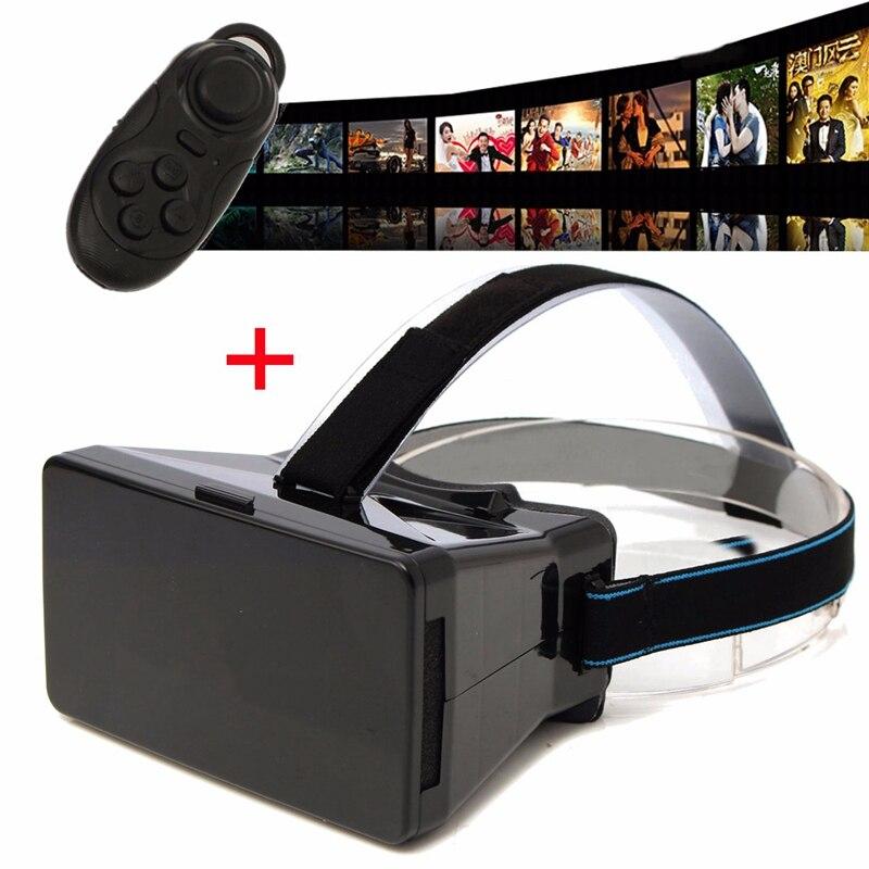 3D VR <font><b>Virtual</b></font> <font><b>Reality</b></font> <font><b>Glasses</b></font> With Bluetooth Remote Control 3D <font><b>Glasses</b></font> <font><b>Case</b></font> <font><b>For</b></font> 3.5-6 Inch SmartPhone <font><b>For</b></font> Android <font><b>for</b></font> <font><b>IOS</b></font> System