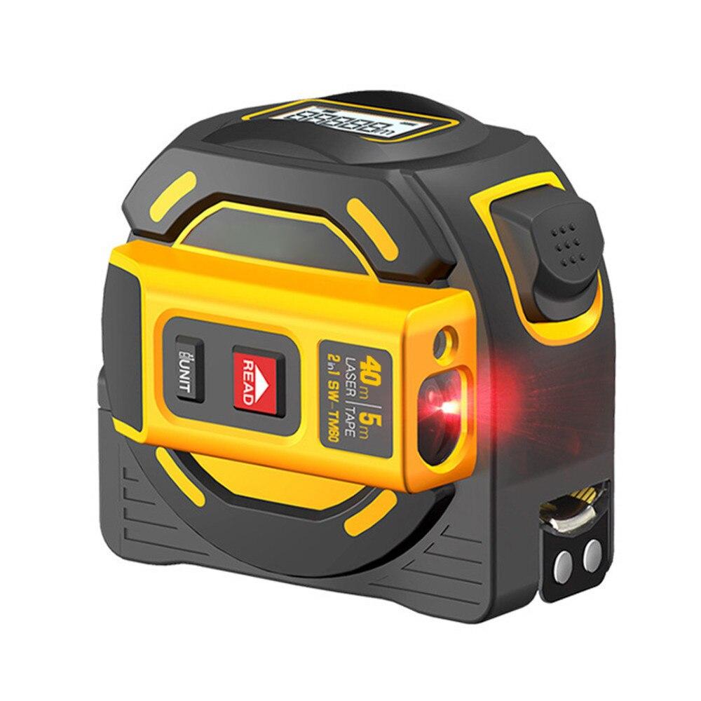 Laser Distance Meter Range Finder 40M Laser Tape Measure Digital Retractable 5m laser rangefinder Ruler Measuring Instrument