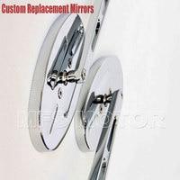 OVAL Shape motorcycle parts Billet Alloy Custom Mirror Ninja 500 All year models