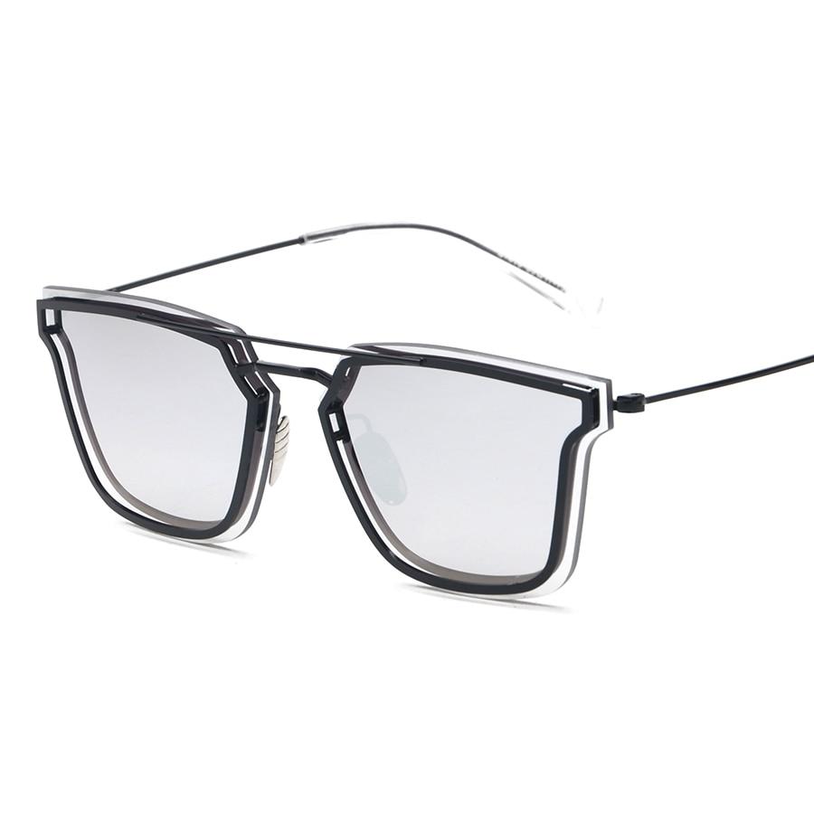 ef9391f168365 Double Bridge Designer COMPOSIT 1.0 Men Women Sunglasses Mirrored Metal  Futurism Shades Glasses Oculos De Sol European Style