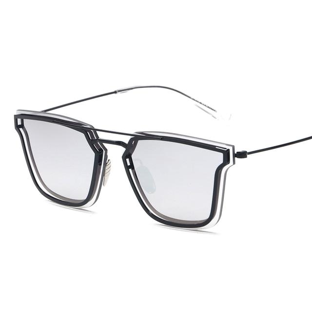 Flat Top Thin Rim Designer 0204S Men Women Sunglasses Pilot Shades Glasses Oculos De Sol Retro Coating Fashion European Style