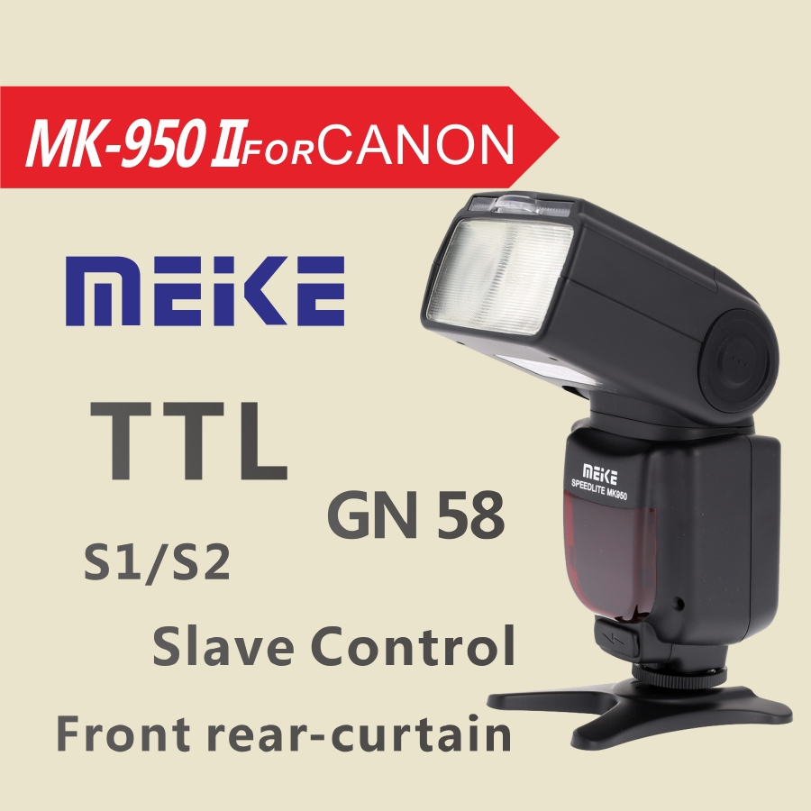 Meike MK950II-C TTL flash speedlite for Canon EOS 5DII 6D 7D 50D 60D 70D 550D 600D 650D 700D 1000D 1100D 1200D 1300D 580EX 430EX camera 2 5x lcd screen viewfinder magnifier loupe for canon 500d 550d 600d 650d 700d 750d 6d 60d 7d 70d 5d 5dii 5d3 100d 1200d