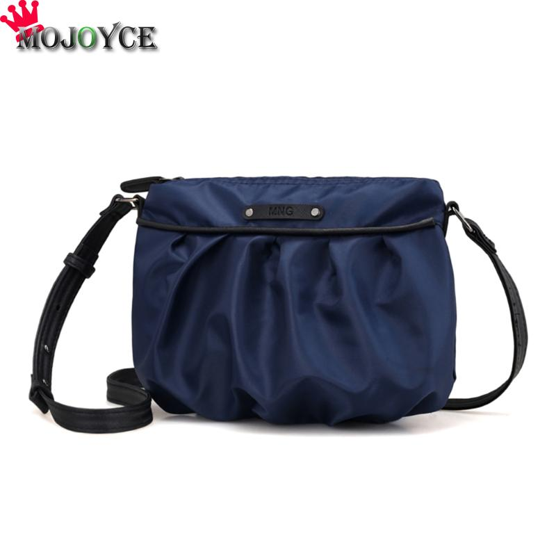 MOJOYCE Nylon Solid Color Messenger HandBag Women Zipper Sling Shoulder Pouch Bags Female Casual Black Dark Blue Crossbody Bags universal nylon cell phone holster blue black size l