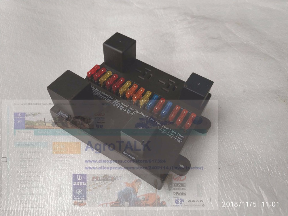 Foton Lovol TD series tractor parts the fuse box assembly part number TD800 482 3