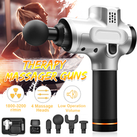 Electronic Therapy Body Massage Guns 24V Brushless LED Massage Guns Body Muscles Relaxing Relief Pains With 4 Heads