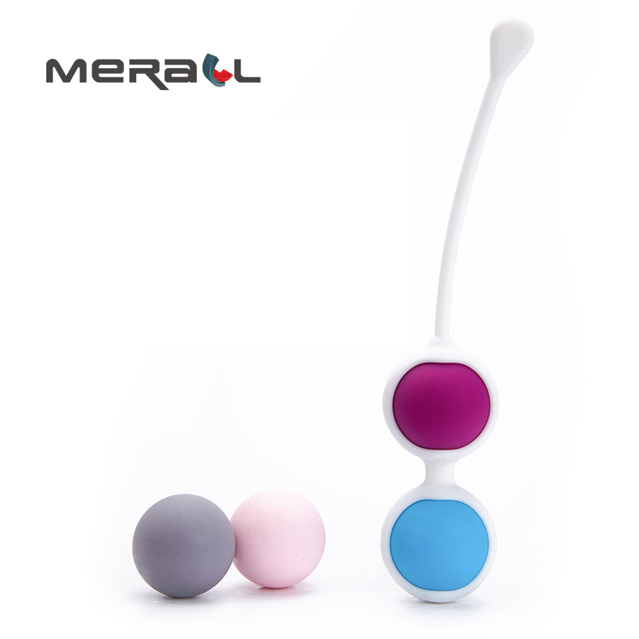 Safe Silicone Smart Vaginal Balls Female Vagina Tight Exercise Trainer Waterproof 4 Balls Bead vaginal shrink massager for women Массаж