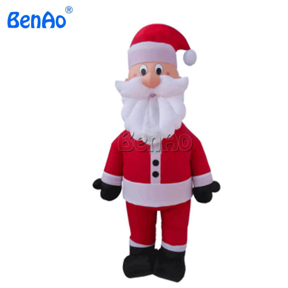 X379 BENAO Free shipping Christmas Outdoor Event Decoration 2.7m Inflatable Santa Claus Cartoon With Oxford For Avertising