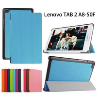 Luxury Magnet Stand PU Leather Smart Foldable Case Cover For Lenovo Tab 2 A8 A8 50
