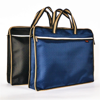 A4 Thick Portable Zipper Bag Canvas Paper Bag For Men S Office File Bag
