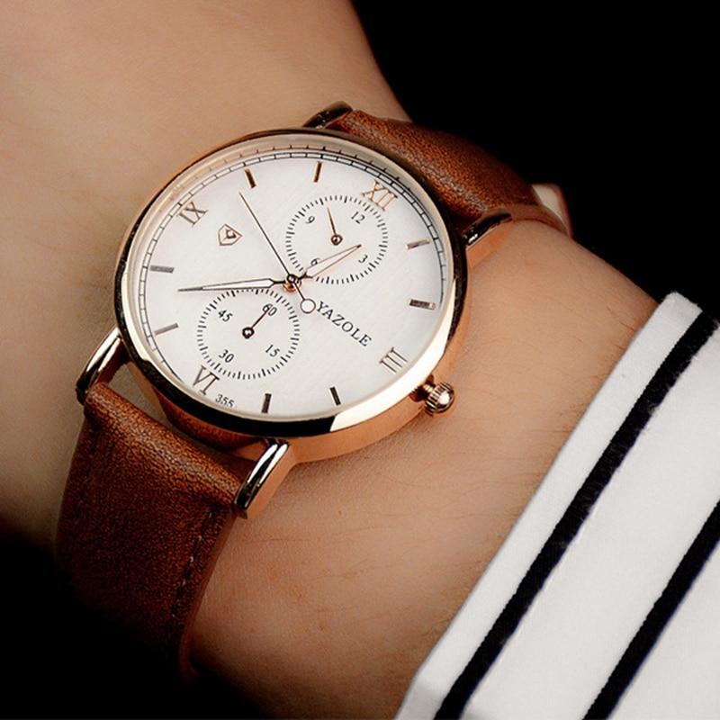 YAZOLE reloj de pulsera hombres 2018 superior de la marca de lujo de famoso hombre reloj de cuarzo reloj para hombre Hodinky Relogio Masculino Ceasuri