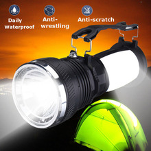 Solar Power Lamp Rechargeable Battery LED Flashlight Outdoors Camping Tent Light Lantern @8 WWO66