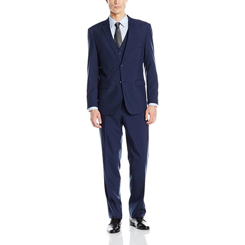 336 (1) Custom Made Men\`s Three Piece Two Button Suit Groomsmen Wedding Suits Groom Suits (Jacket+Pants+Vest) RT336