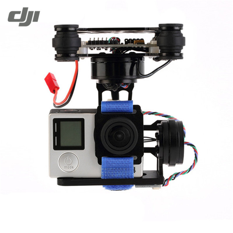 DJI Phantom FPV Only 180g 3 Axis CNC Metal Brushless Gimbal For GoPro 3 4 RC Camera Drone Transmission With Controller dji phantom 4 axis aircraft gimbal for gopro hero2 3 black antique silver