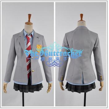 New Shigatsu wa Kimi no Uso(Your Lie In April) Misono Kaoru Cosplay Japanese school uniform custum made any size