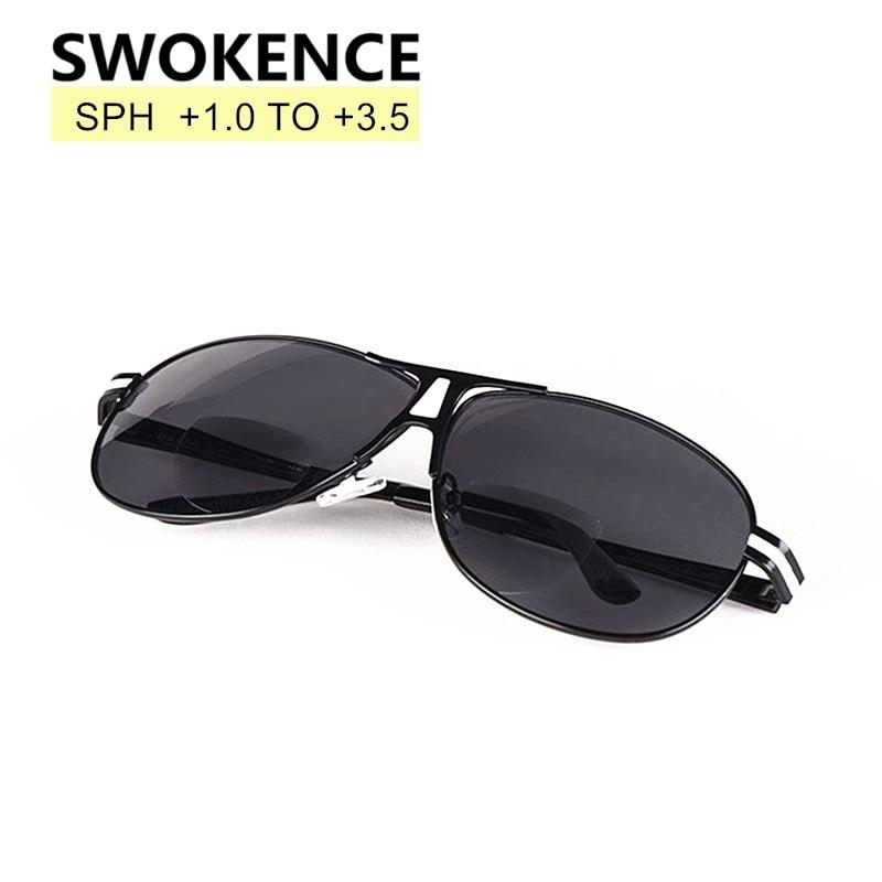 4080035cd4 SWOKENCE +1.0 to +3.5 Pilot Driving Reading Glasses Men Women Bifocal  Sunglasses Quality Brand