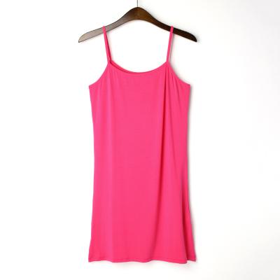 Modal suave Antideslizante Completo para Damas Vestido Del Resbalón Del Verano Cami vestido Ladies Innerwear
