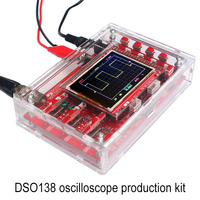 High DSO138 Digital Oscilloscope DIY Kit STM32 Tester with Acrylic Case LG66