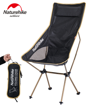 Naturehike Fishing Chair Lengthen backrest Folding Barbecue Stool Camping Hiking outdoor Gardening Chairs