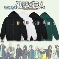 Anime Attack on Titan Cosplay Costumes Shingeki no Kyojin Hoodie Long Sleeve Scout Legion Coat Jackets Men for Spring / Autumn