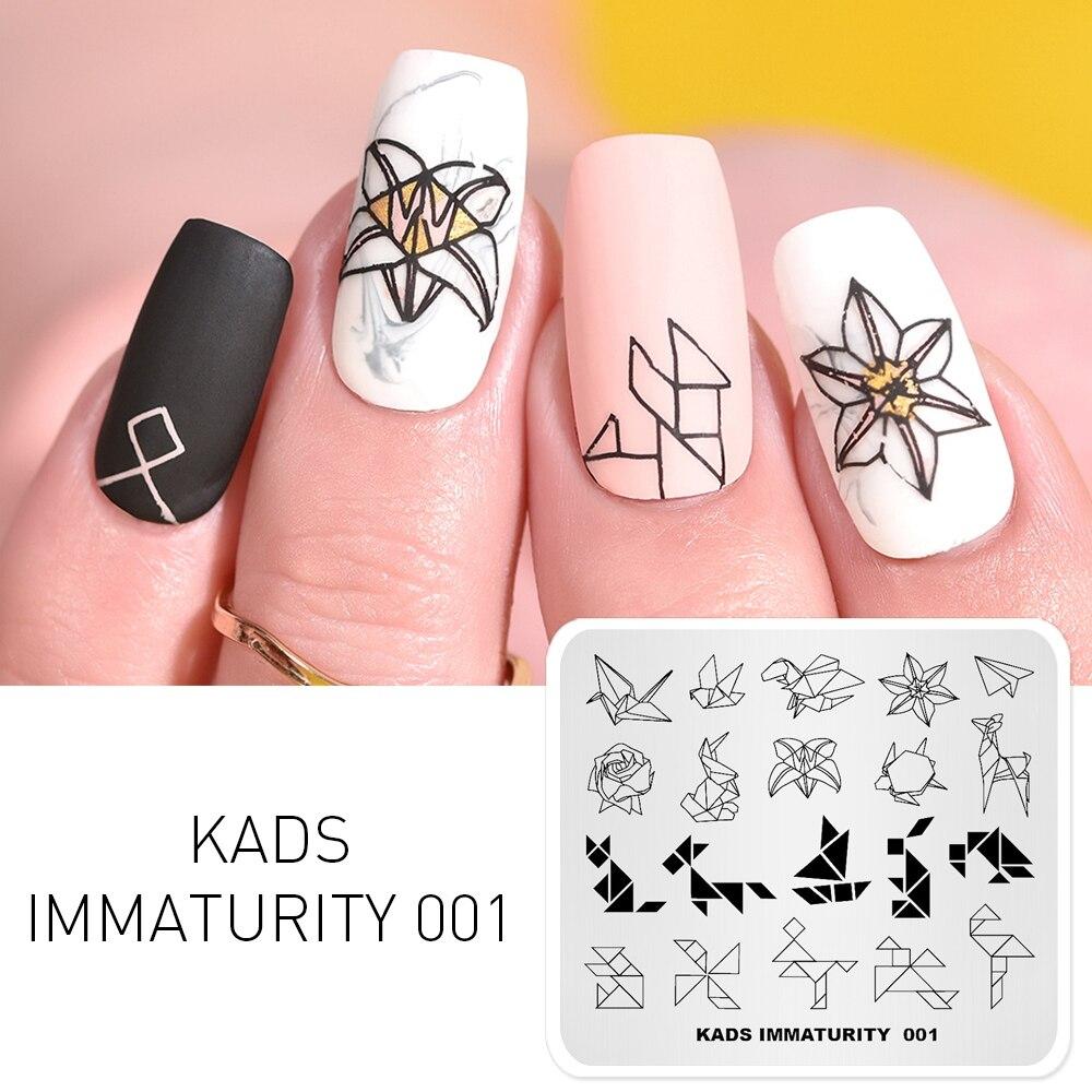 Kads Nail Art Template 9 Designs Immaturity Series Manicure Stamping