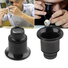 20X Jeweler Watch Magnifier Tool Monocular Magnifying Glass Loupe Lens Black monocular magnifying glass with led light measuring 10x jeweler tool eye reading magnifier eyewear different lens choices